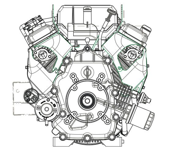Small Ohv V Twin Engine Features